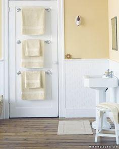 towel rack on door