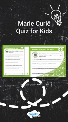 Looking for ways to help your child with their homework? Simply download the questions and work through each one. Beforehand, encourage your child to read through our Marie Curie Homework Help guide (accessible via the Homework Help link on the Twinkl Parents homepage). Then ask your child to take the quiz to see what they remember. Follow the link to try this quiz today! Quizzes For Kids, Marie Curie, Assessment, Homework, Kids Learning, Encouragement, Parents, Knowledge, Coding