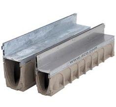 ACO Multidrain MD steel slot drain - more expensive than HexDrain Brickslot