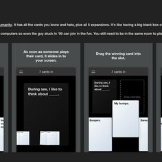 Cards Against Originality is a new web-based version of the hysterically offensive party game.