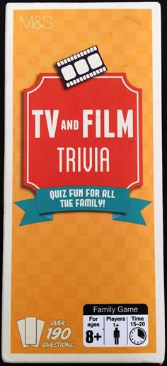 TV and Film Trivia - Quiz Fun For All The Family!