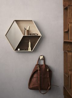 Take your mirror face to a new level / hexagon mirror/shelf