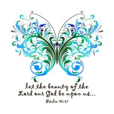 Psalm 90:17, FourGirlsInk via Etsy.