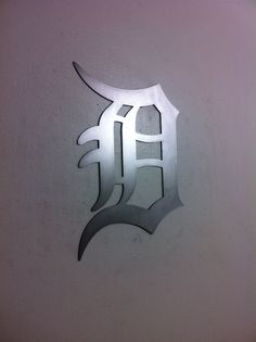 Detroit Tigers Old English D Sign Wall Metal by LewisMetalWorks