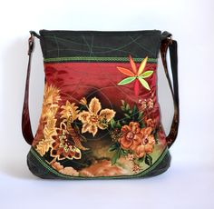 ELEANORka middle no. 23  Handmade handbag with modern colors for autumn fashion jeans and satin combination made you fashionable for this season  price: 30 €