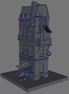 WIP for this house I'm working on. It is based on this concept by the talented Charl