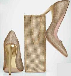 elegantes zapatillas cobre con tacón dorado de aguja 11cms