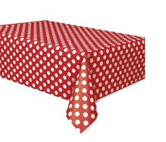 """Red Polka Dot Plastic Tablecloth, 108"""" x 54"""", 2016 Amazon Top Rated Kitchen & Table Linens  #Kitchen"""
