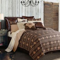 Delectably-Yours.com Reversible Ranch Star Western Quilt Coverlet Bed Set by HiEnd Accents