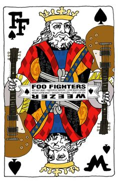 Foo Fighters/ Weezer/ Hot Hot Heat - gig poster by Cole Gerst