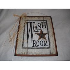 Find This Pin And More On Crafty Stuff. Wash Room Barn Star Outhouse Sign  Country Bathroom Decor ...