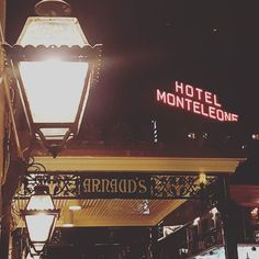 FINALLY! I've been trying to find the best spot to catch the Monteleone sign taken me all week! Managed to capture two New Orleans legends at once #hotelmonteleone #arnaudsnola #frenchquarter #neworleans #nola #followyournola #louisiana #igersnola #visitneworleans #iheartnola #idontwanttogohome by peeriecaz