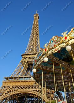 Brilliant Paris France Eiffel Tower & Carousel Fine Art Photography Photo Print - pinned by pin4etsy.com