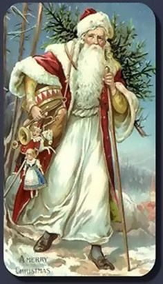 Santa Claus ~ Contado cruz puntada patrón # 1650 ~ Vintage vacaciones de Navidad Gráfico