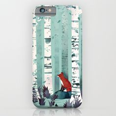 """The Birches"" iPhone Case by Littleclyde on Society6."
