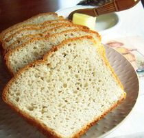 Delicious homemade gluten-free bread ready to eat! Image Teri Gruss