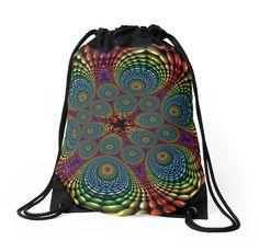 Vortex Drawstring Bag/Backpack by Lyle Hatch