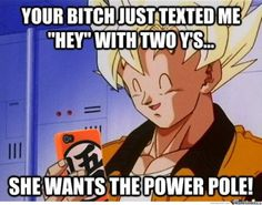 Gokus face makes this.
