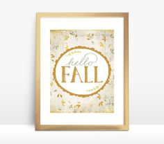 Hello Fall ::  8x10 Instant Download Printable - Home Decor Wall Art Print by Red Pearl Designs