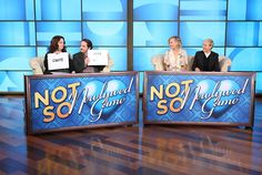 Ellen DeGeneres and Portia de Rossi Play the Not So Newlywed Game Against Melissa McCarthy and Ben Falcone   E! Online Mobile