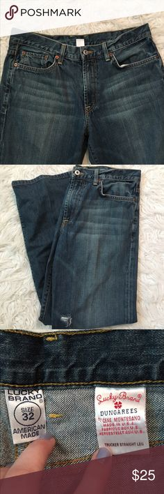 •lucky jeans• These jeans are brand new + in perfect condition. These jeans are so stylish and cute high waisted as well! They are a size 32. Let me know if you have any questions. Make an offer Lucky Brand Jeans Straight Leg