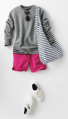 Spring sweatshirt outfit idea | Lands' End
