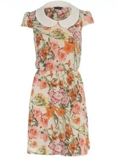 Floral dress with peter pan collar by sososimps