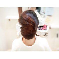 ホステスさんシリーズ☆ お着物(^^) シニヨンです! #ヘアセット #ヘアアレンジ #ヘアスタイル #hair #hairset #ヘアメイク #ウェディング #着物 ...