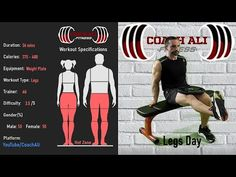 36 min LEGS WORKOUT with Weight Plate - Legs Workout At Home with Coach Ali - YouTube Leg Workout At Home, At Home Workouts, Legs Day, Workout Videos, Youtube, Home Workouts, Youtubers, Youtube Movies, Home Fitness