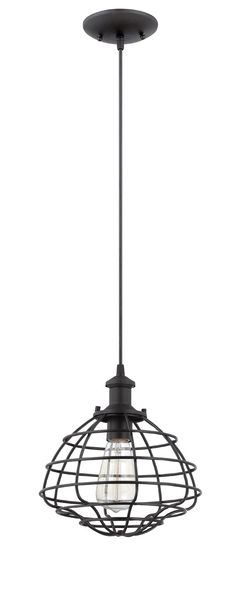 Jeremiah by Craftmade Signature 1 Light Mini-Pendant in Matte Black P340MBK1