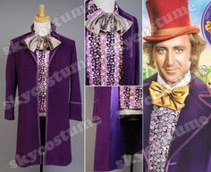 Willy Wonka and The Chocolate Factory Costume Set Coat Vest Bow Tie | eBay