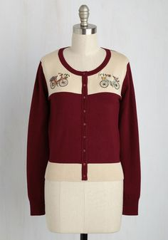 Two-Wheel's Company - Red, Embroidery, Work, Darling, Long Sleeve, Fall, Suede…