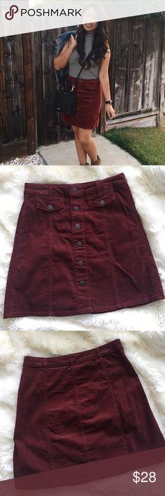 Corduroy Skirt Super cute dark orange corduroy skirt. Gently loved. Make me an offer! ☺️ Mossimo Supply Co Skirts Mini