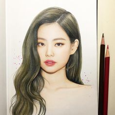 💗 i like all art ❤️ © - Kpop Drawings, Pencil Drawings, Art Drawings, Sketch Inspiration, Blackpink Jennie, Black Pink, Barbie, Wow Art, Color Pencil Art