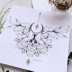 Neue Tattoos, Music Tattoos, Body Art Tattoos, Hand Tattoos, Tatoos, Sternum Tattoo Design, Lace Tattoo, Tattoo Designs, Mandala Sternum Tattoo