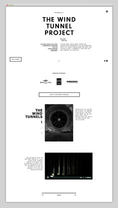 ✖ User Interface / The Wind Tunnel Project