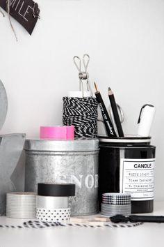 Office storage tins