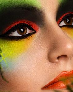 Creative Make up II by Stefka Pavlova, via Behance