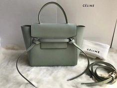 2018 Cheap Celine Nano Belt bag in grained calfskin Pastel Green 2545bbfdf9332