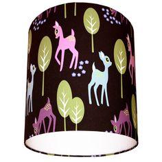 Woodland Deer Fabric Lampshade in Chocolate by lovefrankiedotcom, £25.00