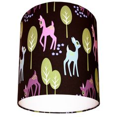 Woodland Deer Fabric Lampshade in Chocolate by lovefrankiedotcom, £25.00