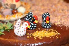 Na Cozinha com os J's: Bolo de Pêssegos com Cobertura de Chocolate (Decor... Peach Cobbler Cake, Chocolate Frosting, Cook, Recipes