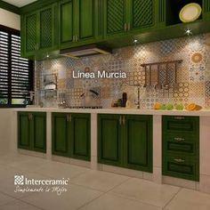 Resultado de imagen para interceramic cocinas rusticas #cocinaspequeñasdepartamento