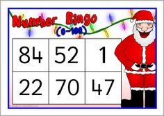 Letter to santa word mat sb11799 sparklebox christmas christmas numbers bingo 0 100 sb10161 sparklebox spiritdancerdesigns Gallery