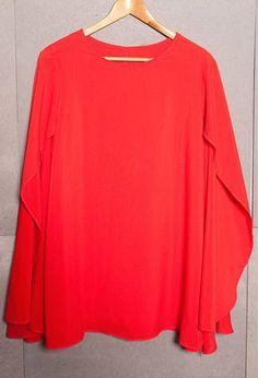Long Batwing Sleeved Cape Chiffon Dress