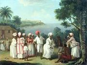 A Negroes' Dance on the Island of Dominica  by Agostino Brunias