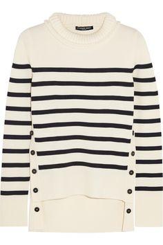 Alexander McQueen|Striped merino wool sweater|NET-A-PORTER.COM