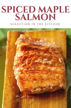 Looking For A Cedar Plank Grilled Salmon Recipe? This Spiced Maple Salmon Is A Grilled Salmon That Is Both Sweet And Spicy. This Grilled Seafood Entree Is So Easy To Make On The Grill. This Salmon Recipe Is A Healthy Option For Your Next Cookout Grilled Salmon Dinner, Grilled Salmon Recipes, Grilled Seafood, Best Seafood Recipes, Shellfish Recipes, Real Food Recipes, Yummy Recipes, Fish Dishes, Seafood Dishes