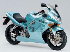 Sky blue Honda sport bike