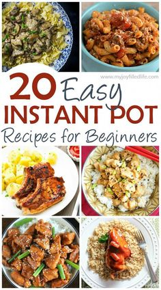 20 Easy Instant Pot Recipes for Beginners - Happy Cooking , In the food recipe that you read this time with th Best Instant Pot Recipe, Instant Pot Dinner Recipes, Instant Recipes, Recipes Dinner, Instant Hot Pot, Slow Cooker Recipes, Cooking Recipes, Healthy Recipes, Easy Instapot Recipes